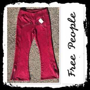 NWT Free People Cropped Fit and Flare Joggers